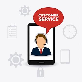 Diseño de atención al cliente.