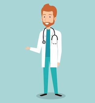 Diseño de avatar de médico profesional hombre avatar