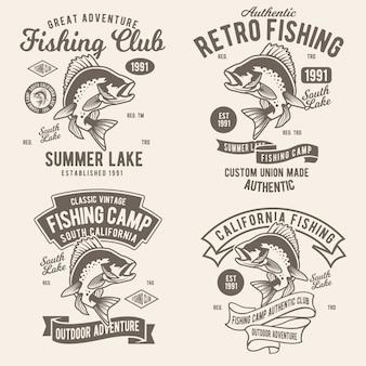 Diseño de aventura de pesca