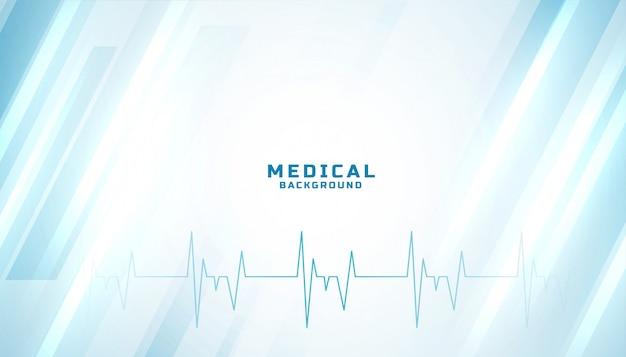 Diseño azul brillante médico y sanitario.