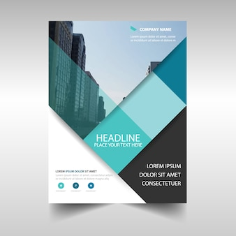Diseño azul claro creativo de folleto de negocios
