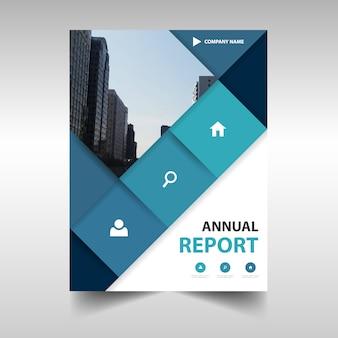 Diseño azul creativo de folleto de negocios con iconos