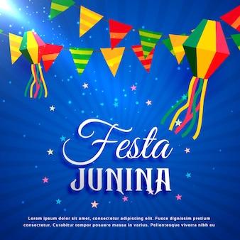 Diseño azul de festa junina