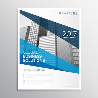 Diseño azul de flyer corporativo de negocios