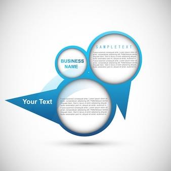 Diseño azul infográfico