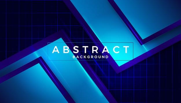 Diseño azul vidrioso elegante abstracto del fondo