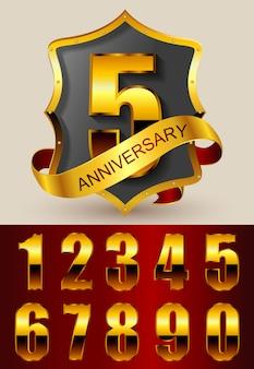 Diseño de badge de aniversario