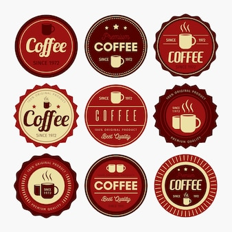 Diseño de badge de café