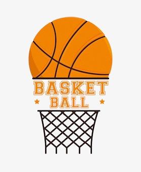 Diseño de baloncesto, ilustración vectorial.
