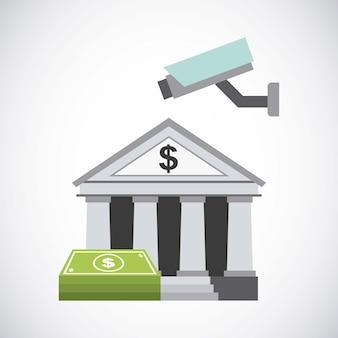 Diseño de banco y dinero