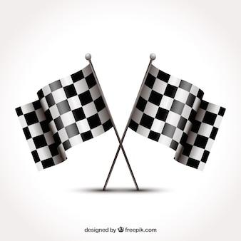 Diseño de bandera a cuadros