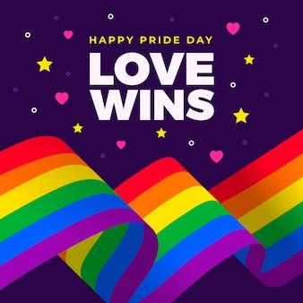 Diseño de la bandera del día del orgullo