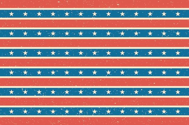 Diseño de la bandera de ee. uu. ilustración vectorial