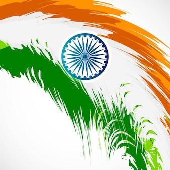Diseño de la bandera india abstracta