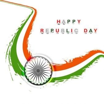 Diseño de la bandera india ondulada