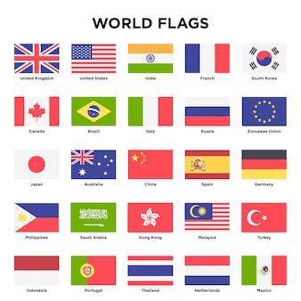 Diseño de banderas del mundo
