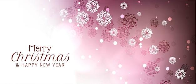 Diseño de banner abstracto feliz navidad festival
