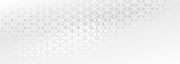 Diseño de banner abstracto de formas sutiles triángulo elegante
