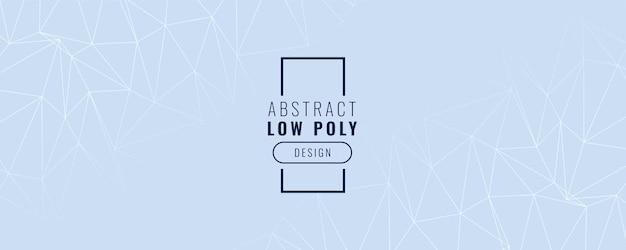 Diseño de banner abstracto low poly