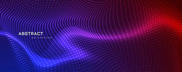 Diseño de banner abstracto partículas coloful