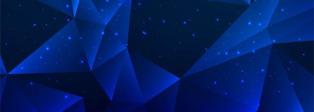 Diseño de banner abstracto polígono azul