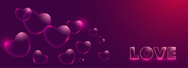 Diseño de banner de amor