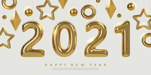 Diseño de banner de año nuevo fondo festivo de vacaciones de invierno