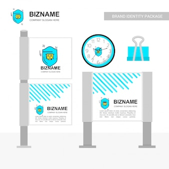 Diseño de banner de anuncios de empresa con vector logo de empresa