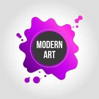 Diseño de banner de arte moderno splash rosa y morado