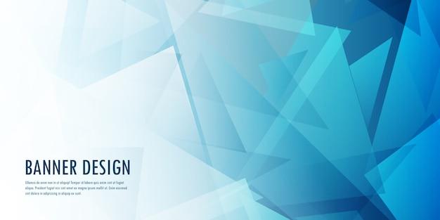 Diseño de banner de baja poli abstracto