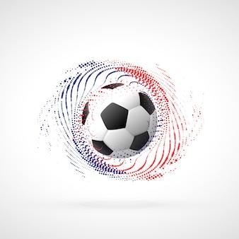 Diseño de banner de campeonato de fútbol con remolino de partículas