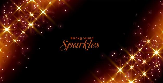 Diseño de banner de celebración de destellos brillantes y estrellas