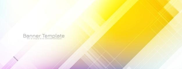 Diseño de banner colorido brillante abstracto