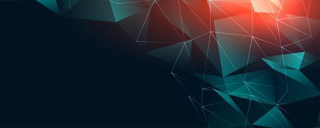 Diseño de banner de conexión de baja poli digital abstracto
