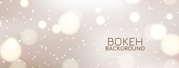 Diseño de banner decorativo abstracto bokeh