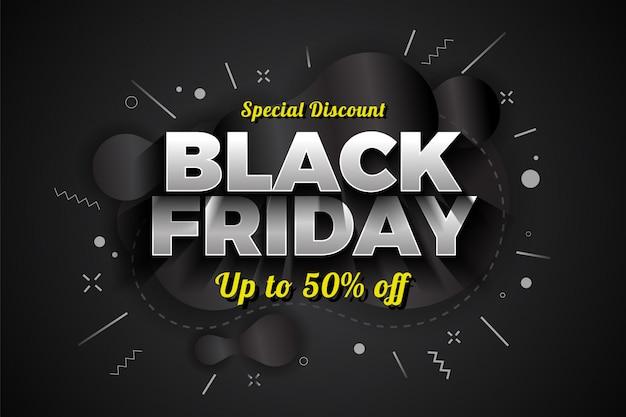 Diseño de banner de descuento especial de venta de viernes negro.