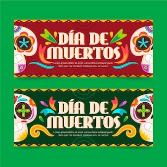 Diseño de banner del día de muertos.