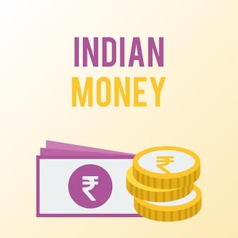 Diseño de banner de dinero indio