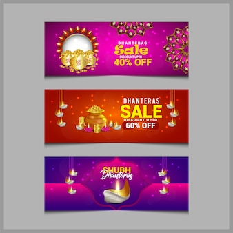 Diseño de banner de diwali