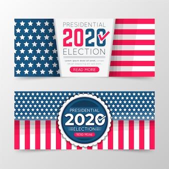 Diseño de banner de elección presidencial de ee. uu. 2020
