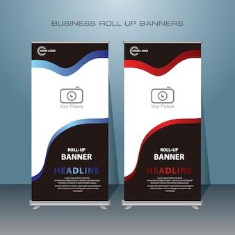 Diseño de banner enrollable moderno y creativo.