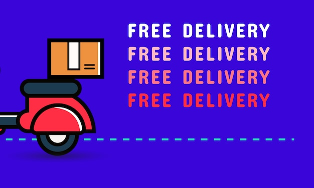 Diseño de banner de entrega gratis