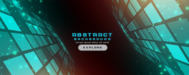 Diseño de banner de estilo de tecnología futurista abstracto