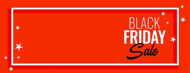 Diseño de banner de estrellas rojas de venta de viernes negro