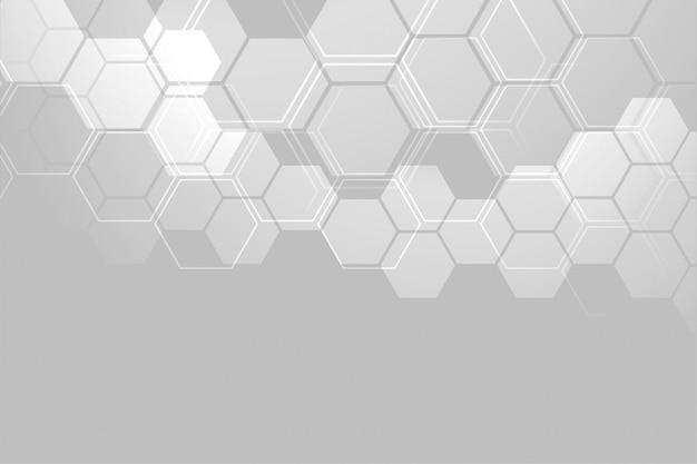 Diseño de banner de estructura molecular abstracta