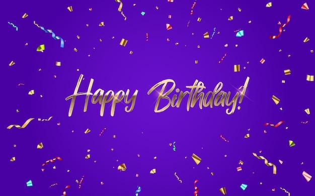 Diseño de banner de felicitaciones de feliz cumpleaños
