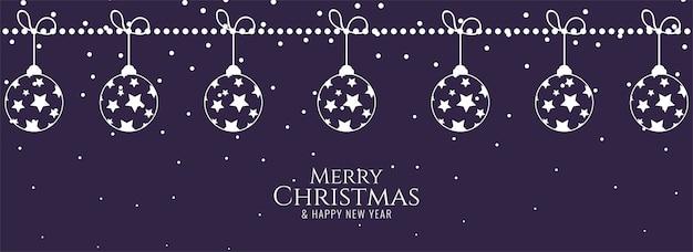Diseño de banner de festival elegante de feliz navidad