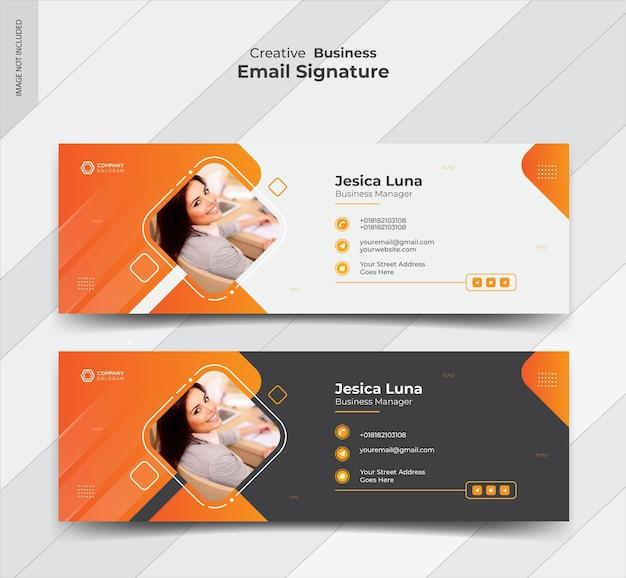 Diseño de banner de firma de correo electrónico empresarial