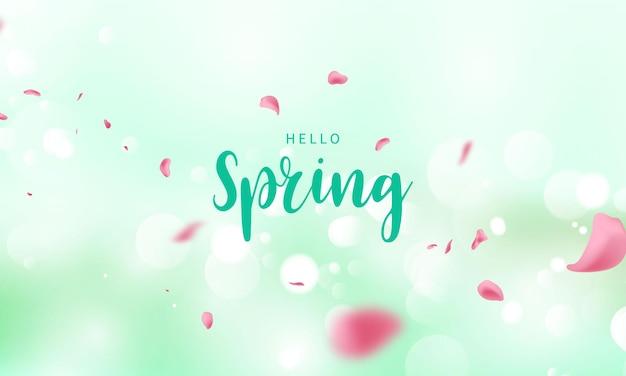 Diseño de banner flor fondo de primavera con hermoso
