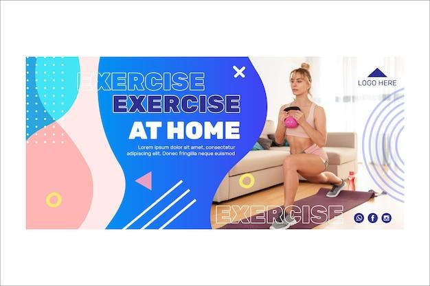 Diseño de banner de formación en casa